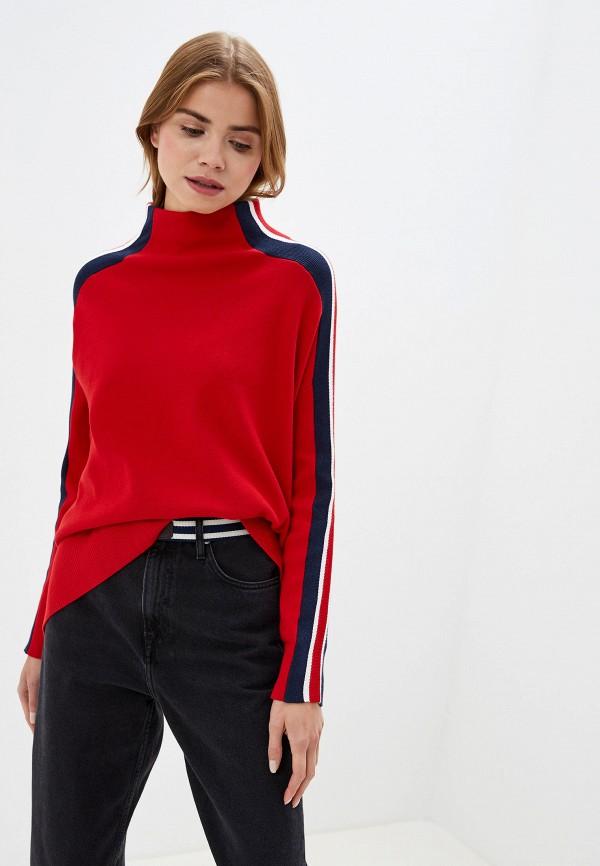 женский свитер tommy hilfiger, красный
