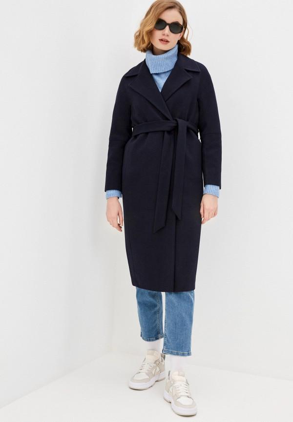 женское двубортные пальто снежная королева, синее
