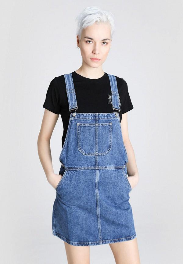женское джинсовые платье o'stin, синее