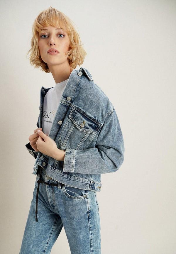 женская джинсовые куртка o'stin, синяя
