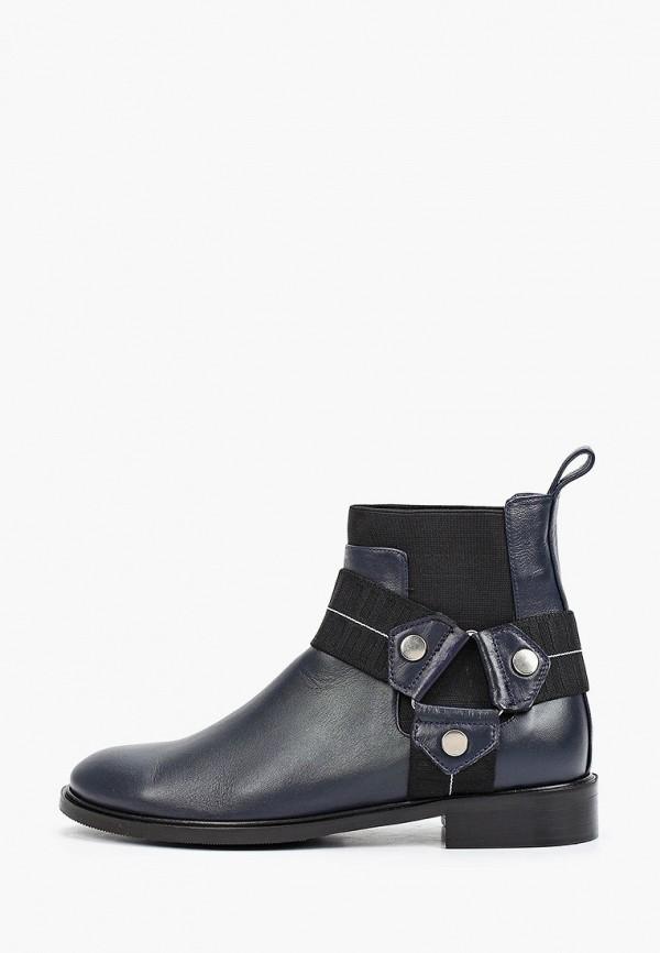 женские высокие ботинки hestrend, синие