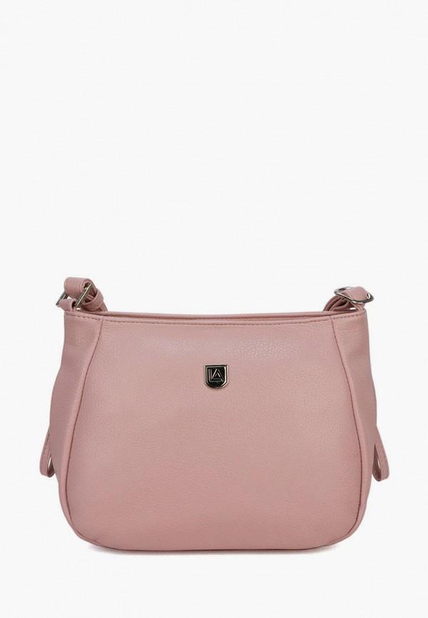 женская сумка через плечо laccoma, розовая