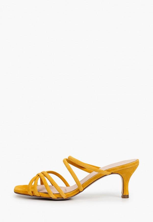 женское сабо mascotte, желтое