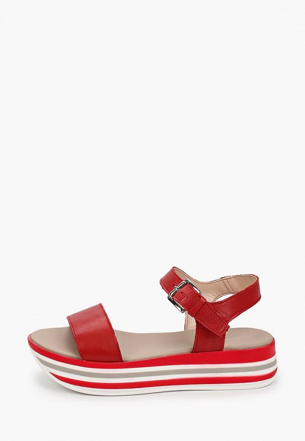 женские сандалии mascotte, бордовые
