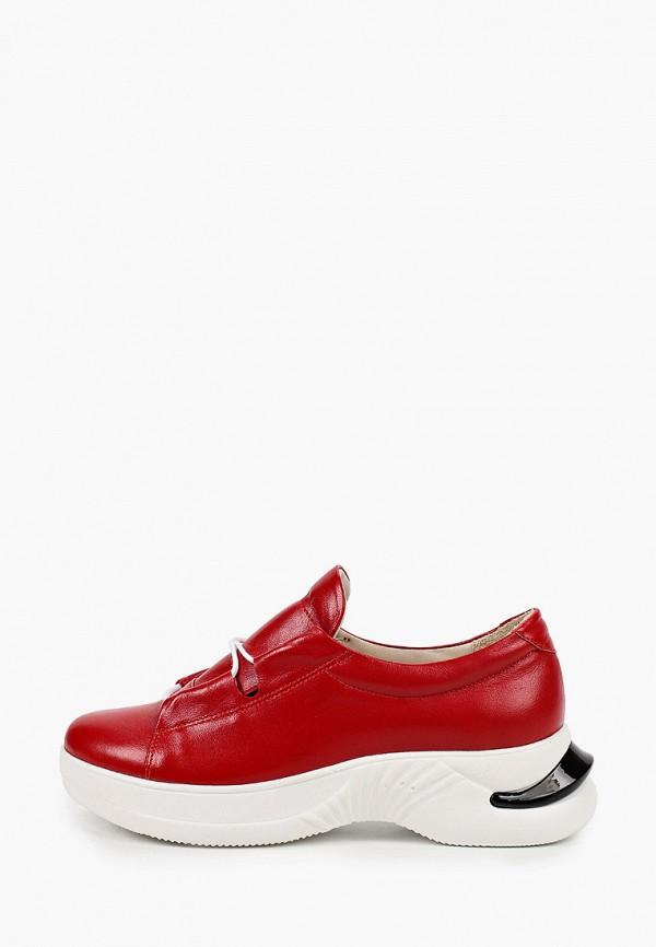 женские низкие кроссовки mastille, красные