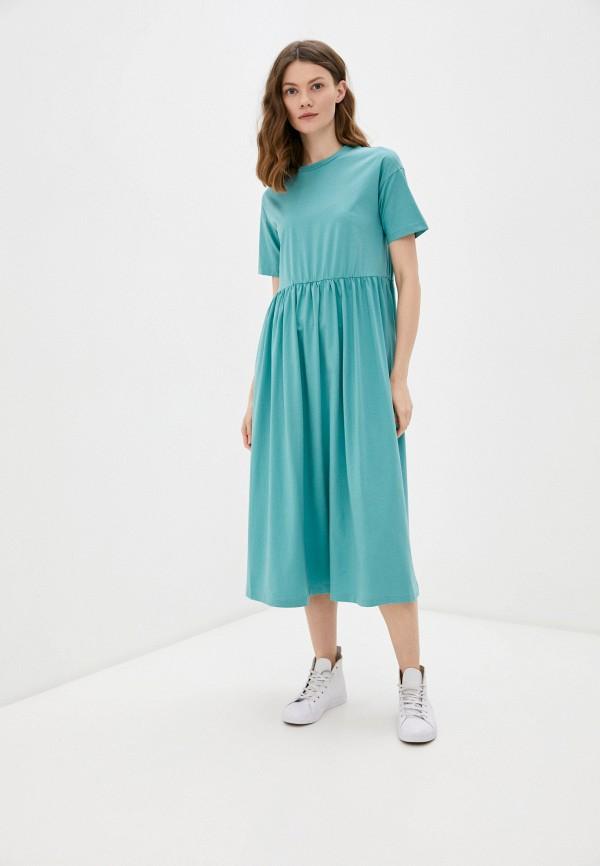 женское платье-футболки savage, бирюзовое