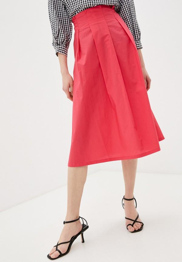 женская юбка-трапеции savage, розовая