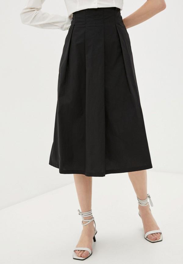 женская юбка-трапеции savage, черная