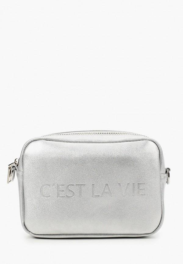 женская сумка через плечо keddo, серебряная