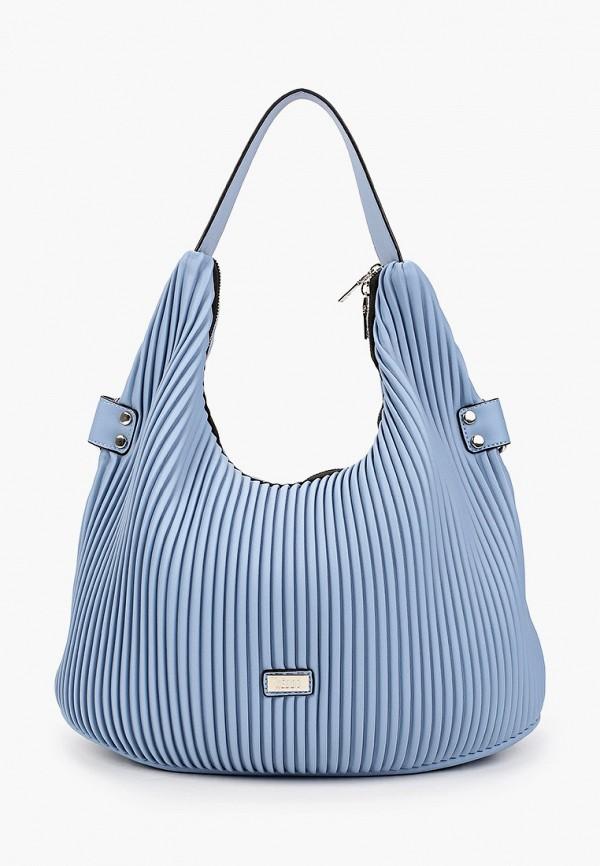 женская сумка с ручками keddo, голубая
