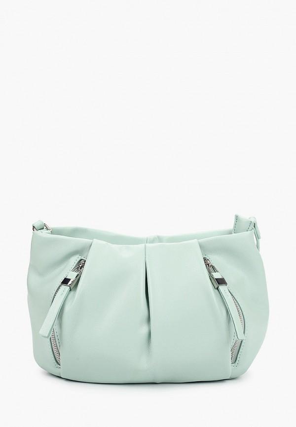 женская сумка через плечо keddo, бирюзовая