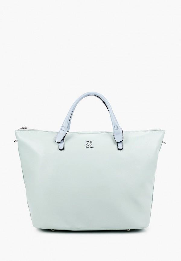 женская сумка с ручками keddo, бирюзовая