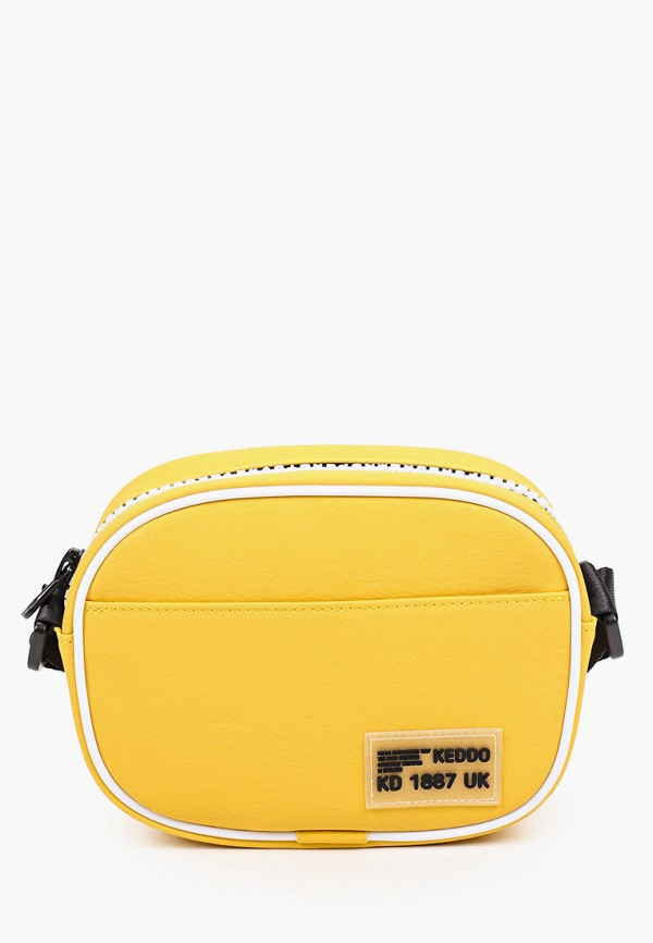 женская сумка через плечо keddo, желтая