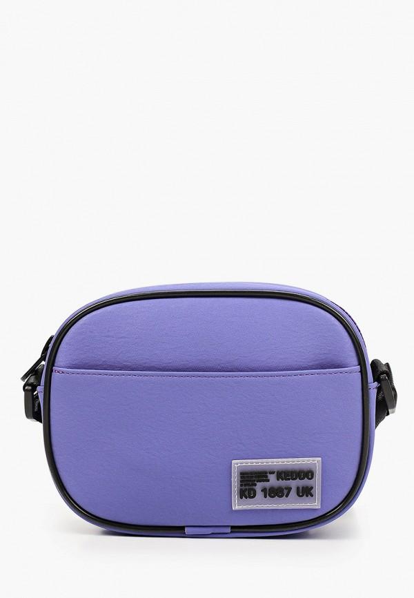 женская сумка через плечо keddo, фиолетовая