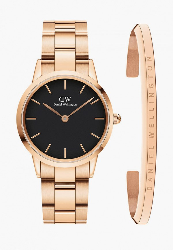 женские часы daniel wellington, золотые