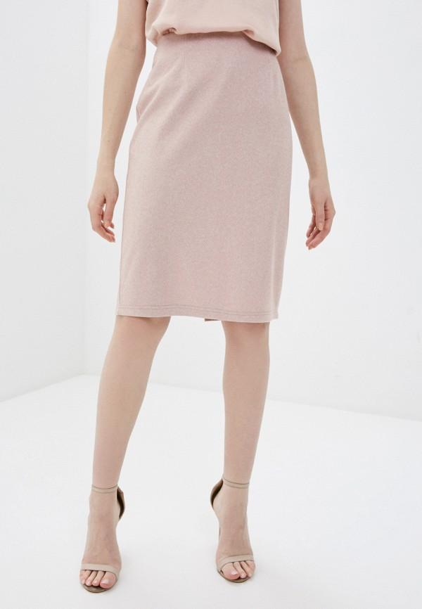 женская прямые юбка naturel, розовая