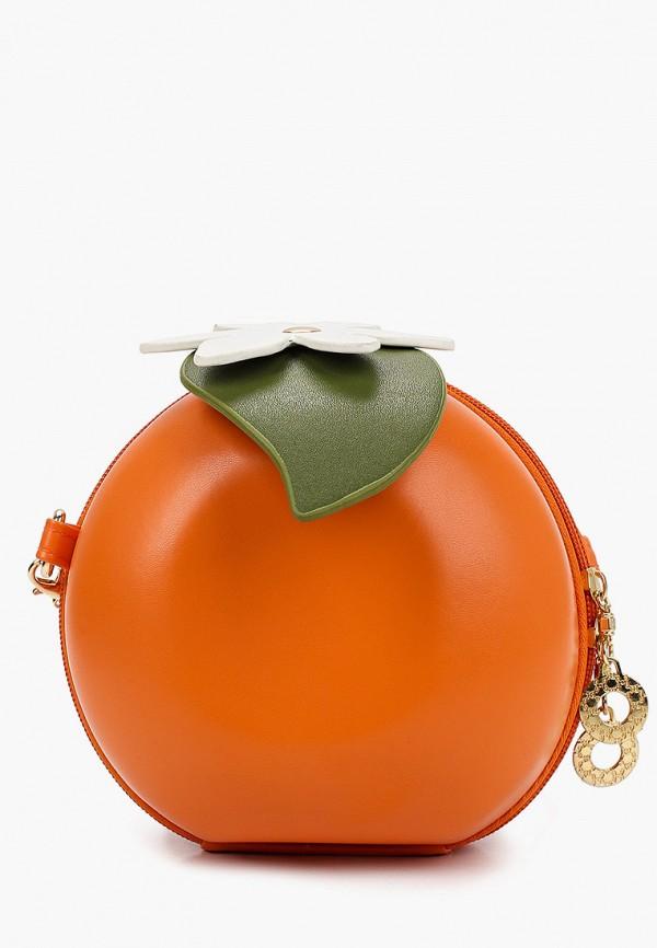 женский клатч артми, оранжевый
