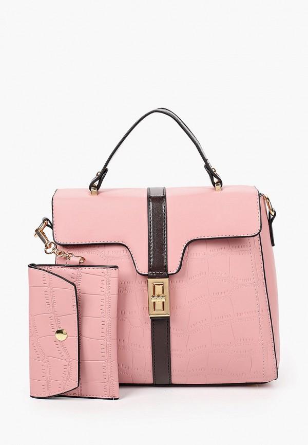 женский кошелёк с ручками артми, розовый