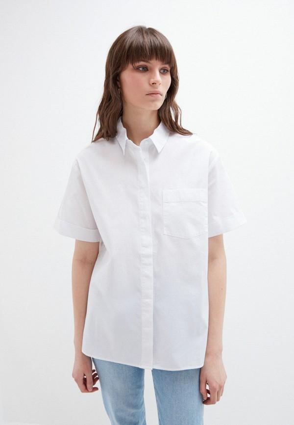 женская рубашка с коротким рукавом zarina, белая