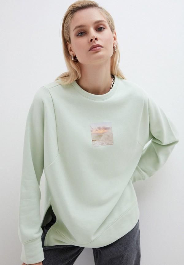 женский свитшот zarina, зеленый