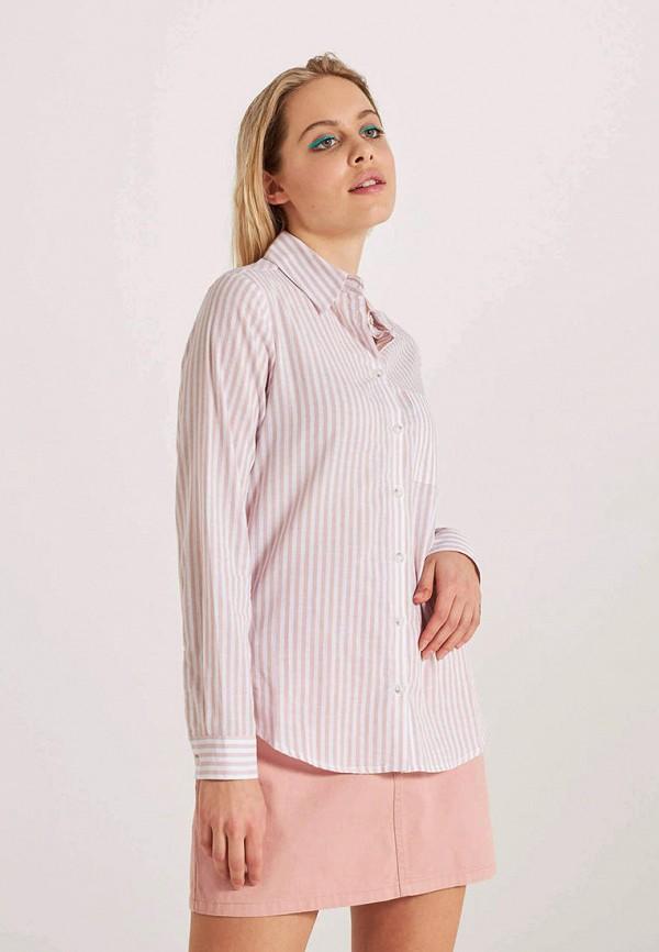 женская рубашка с длинным рукавом terranova, розовая