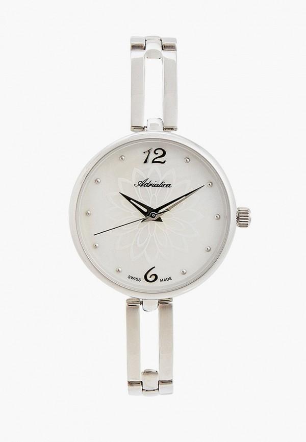 женские часы adriatica, серебряные