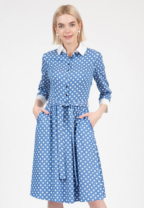 женское платье-рубашки olivegrey, голубое