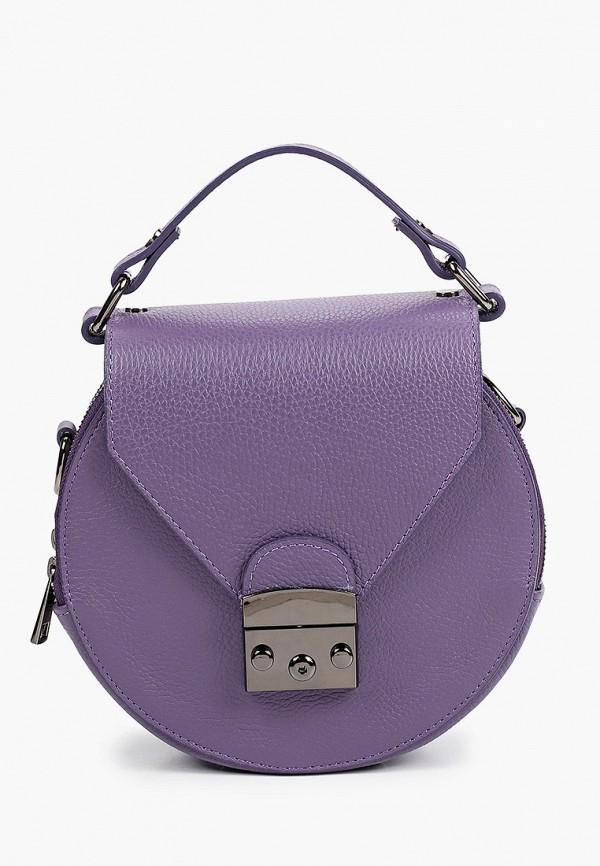 женская сумка с ручками alessandra del biondo, фиолетовая