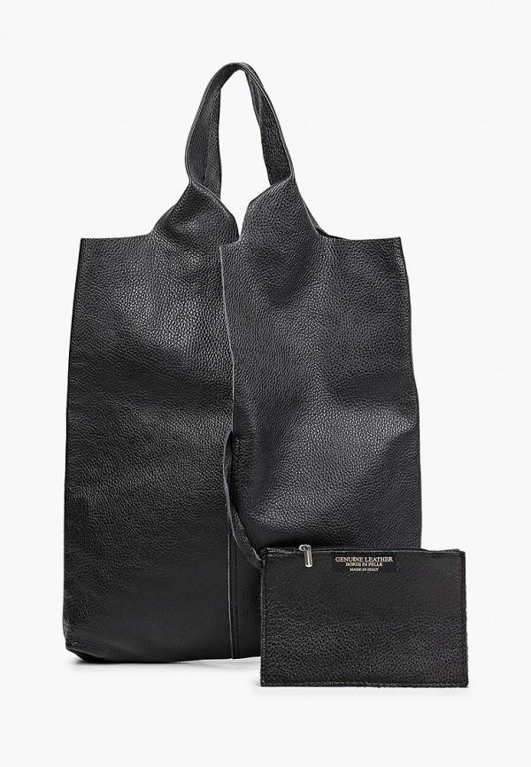женский кошелёк-шоперы alessandra del biondo, черный