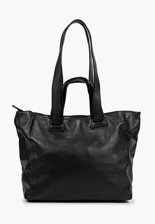 женская сумка-шоперы alessandra del biondo, черная
