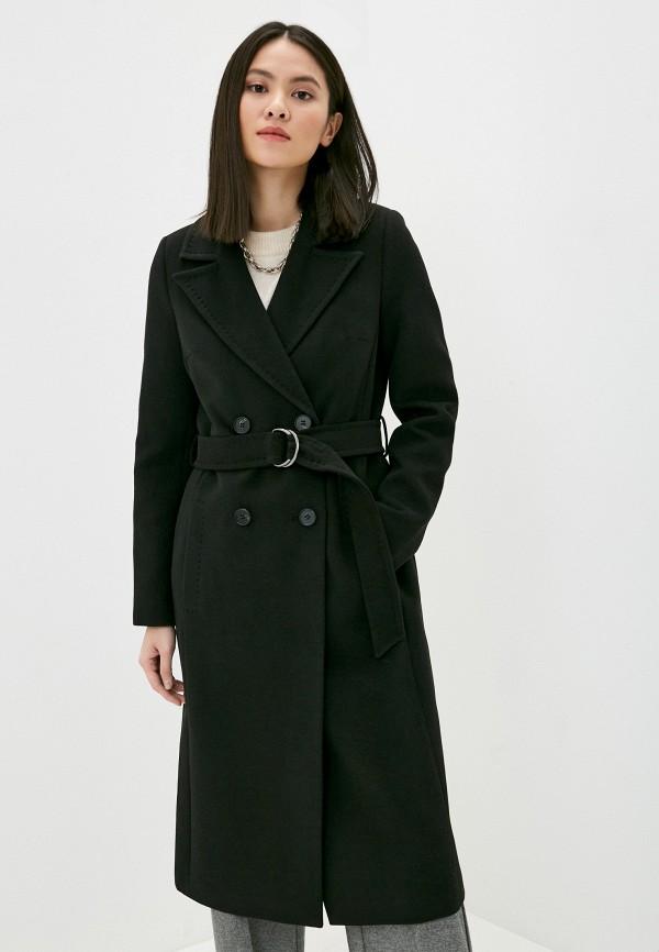 женское двубортные пальто снежная королева, черное