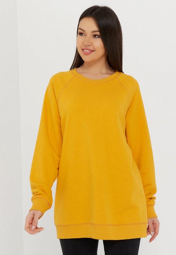 женский свитшот katharina kross, желтый