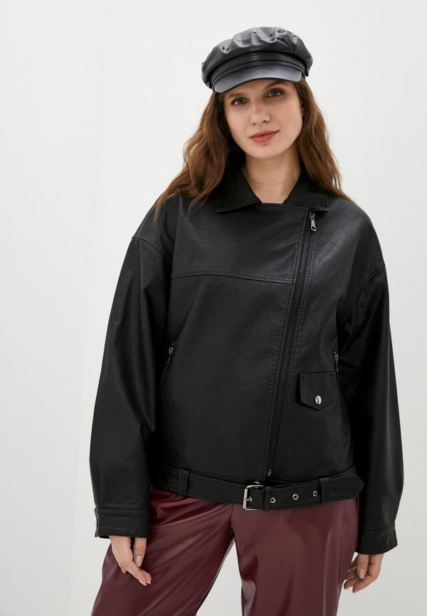 Куртка кожаная Grafinia черного цвета
