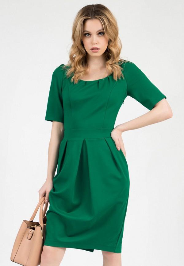 женское платье-футляр grey cat, зеленое