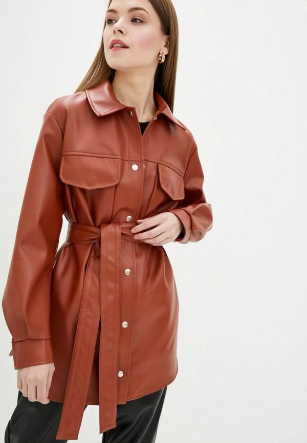 женская куртка danna, коричневая
