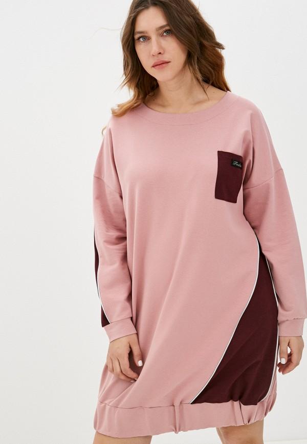 женское платье-толстовки lamuro, розовое