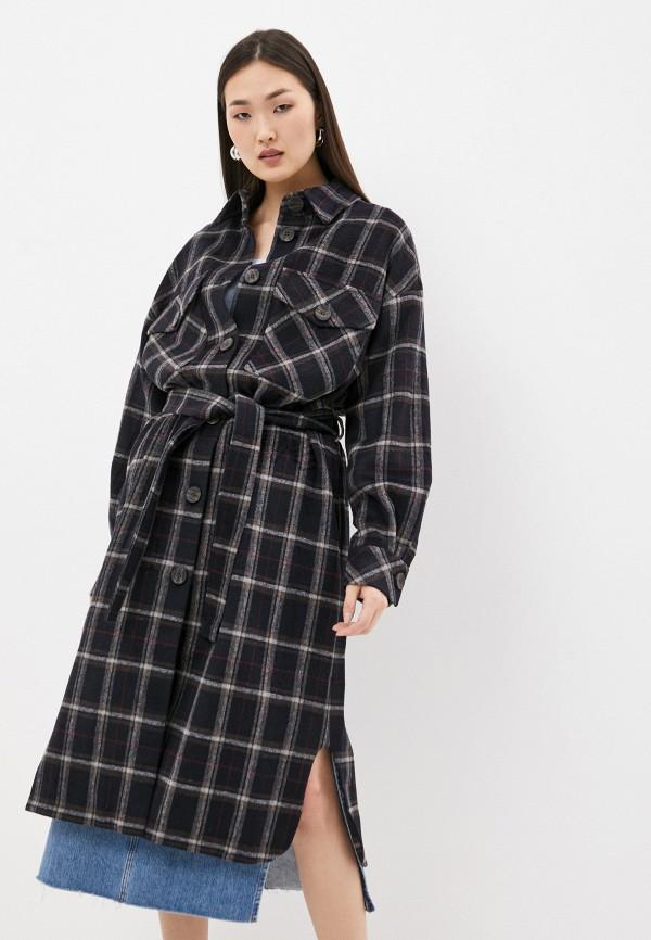 женское пальто top top, черное