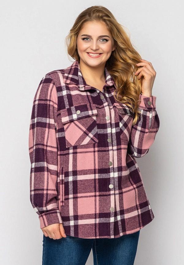 женская рубашка с длинным рукавом vlavi, розовая