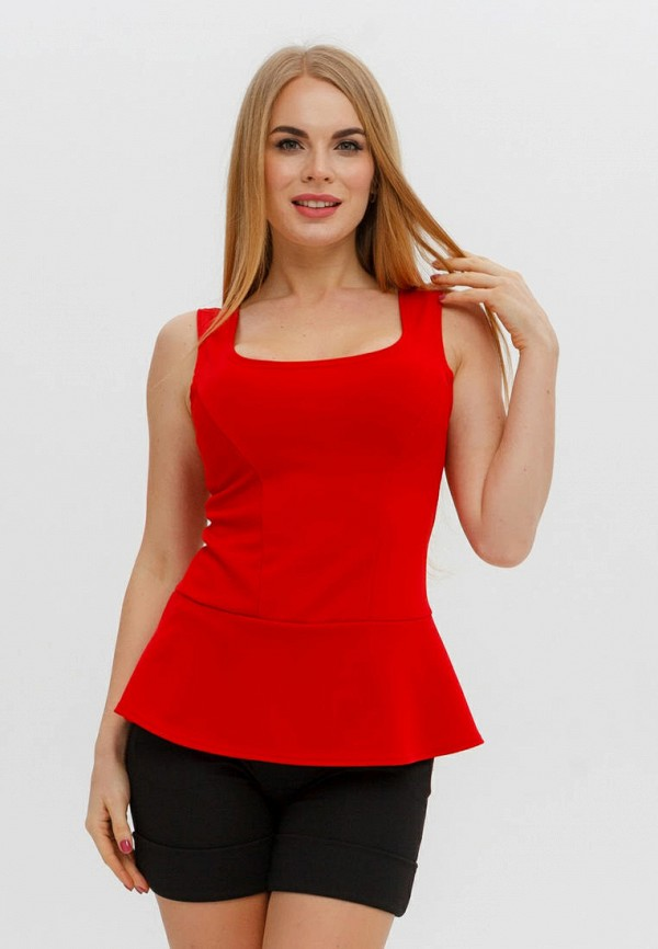 женский топ текстиль хаус, красный