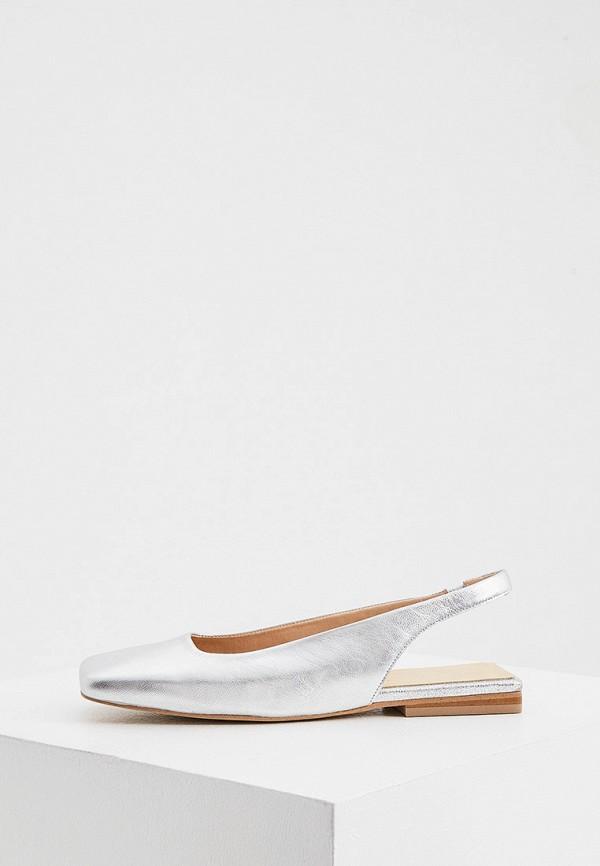 женские туфли jonak, серебряные