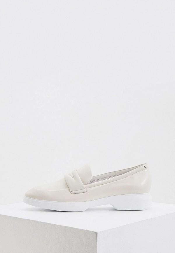 женские туфли с закрытым носом hogl, белые