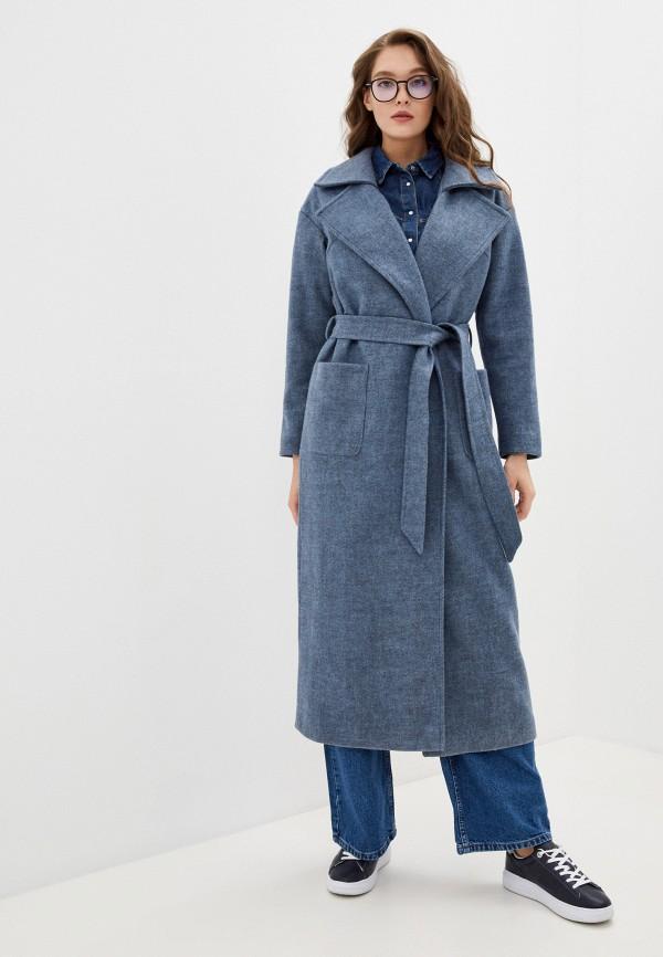 женское пальто jan bidi, синее