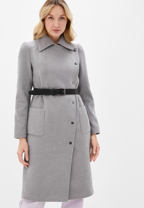 женское пальто jan bidi, серое