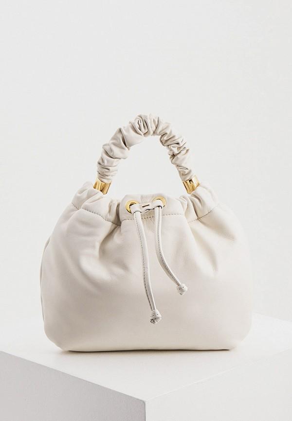 женская сумка с ручками hogl, белая