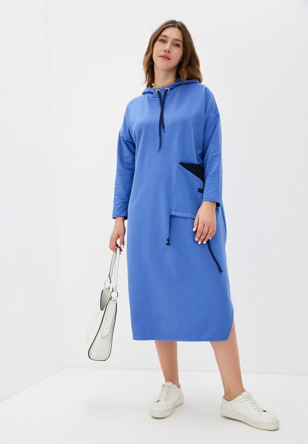 женское платье-толстовки lamuro, синее
