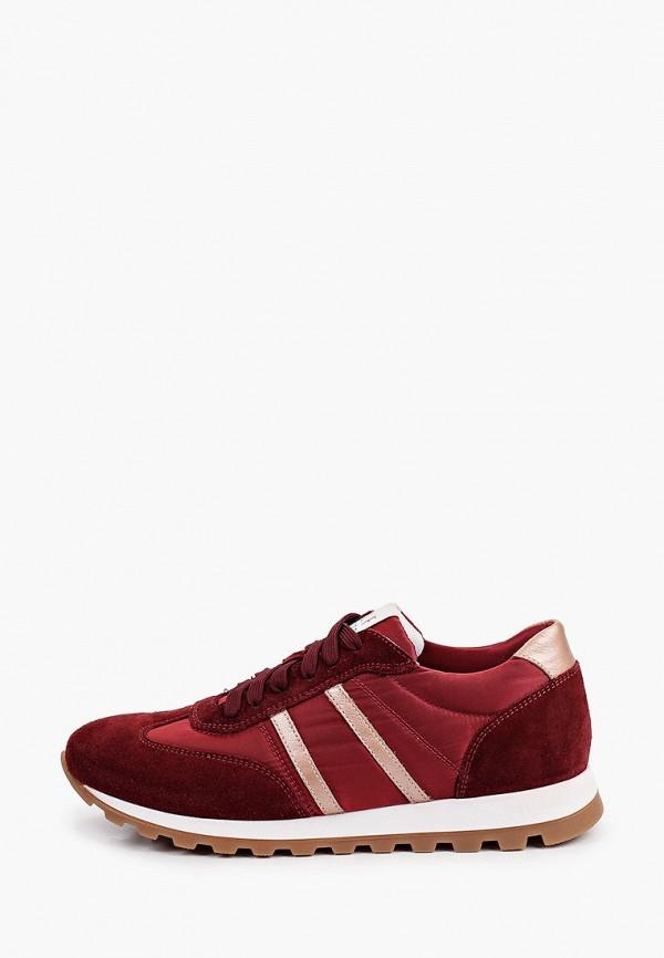 женские низкие кроссовки ralf ringer, бордовые