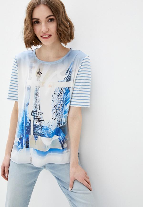 женская футболка gerry weber, голубая