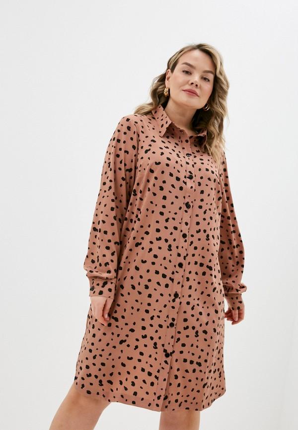 женское платье-рубашки jp, бежевое