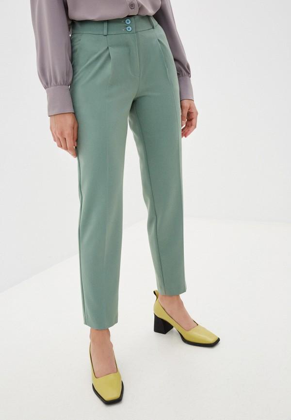женские зауженные брюки avemod, бирюзовые