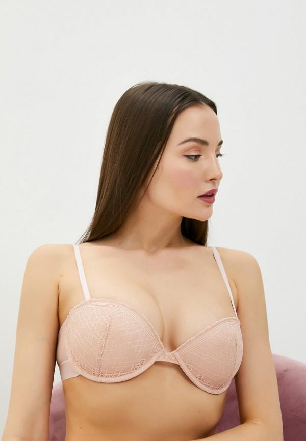 женский бюстгальтер на косточках defacto, розовый